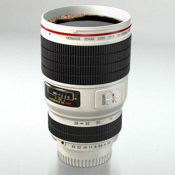 to-go-Cup! Kameraobjektiv als Trinkbecher. #geschenkidee