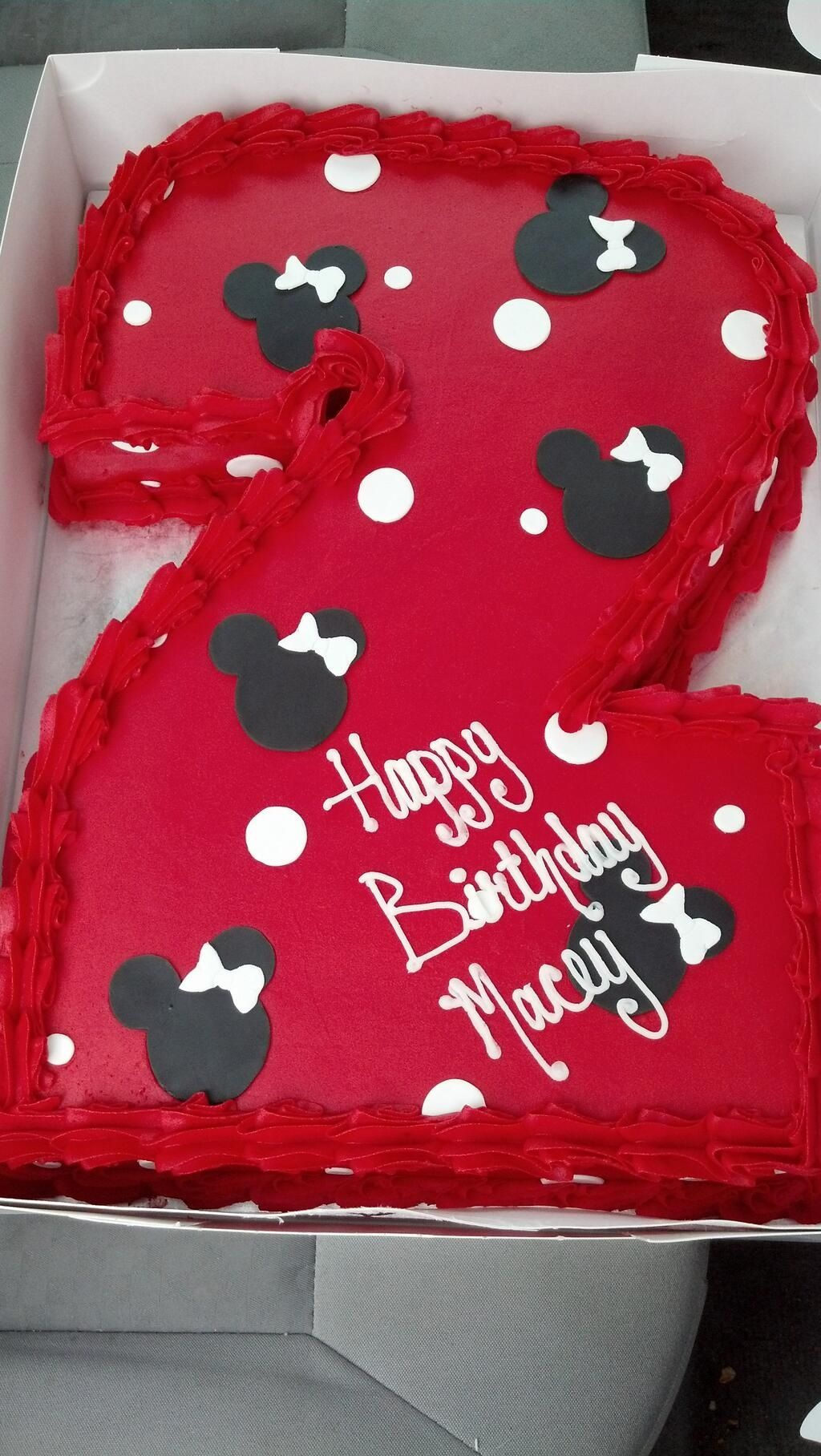 Minnie Mouse cake 2nd birthday  Birthday Cakes  Pinterest