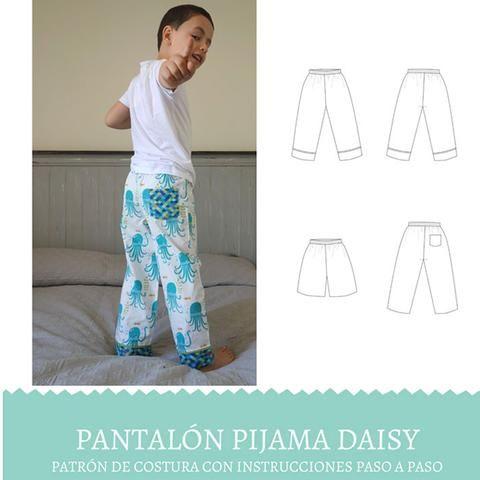 Patron Vestido Nina Eva Dress Pdf Ulalatela Pantalones De Pijama Patrones De Costura Patrones De Ropa Para Ninos