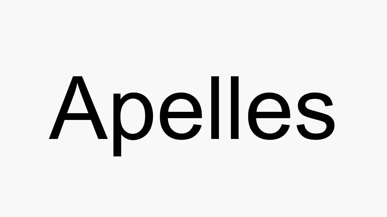 How to pronounce Apelles  How to pronounce, Read bible, American
