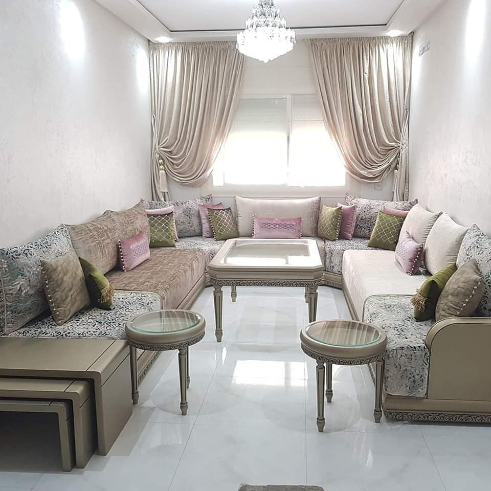 تنفيد جميع اعمال الديكور من مفروشات و جبس صبغ صالونات ديكورات 0568668578 تعليقلتكم تهمنا و Moroccan Living Room Moroccan Home Decor Floor Pillows Living Room