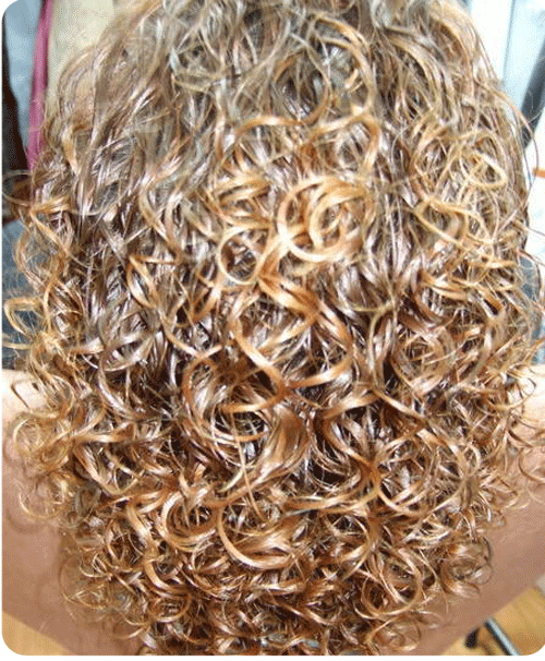 highlighted perm with big bouncy