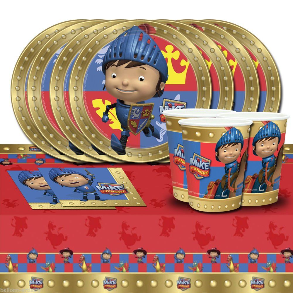 Amazon Com Mike The Knight Medieval Children S Birthday Party Tableware Pack F Birthday Party Tableware Princess Theme Birthday Party Childrens Birthday Party