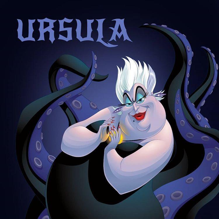 Ursula The Little Mermaid Baby Cartoon Characters Baby Girl Drawing Disney Villains