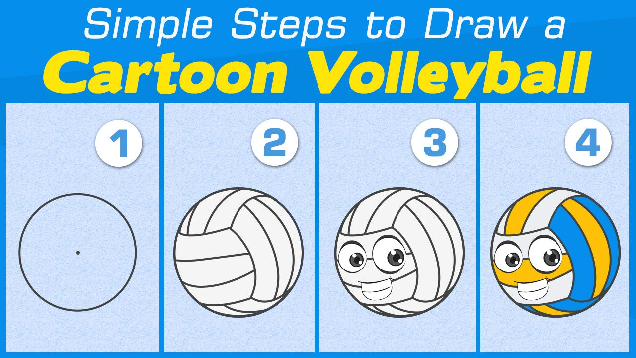 Maybe Playing Volleyball May Turn Out Not To Be As Straightforward As It Seems But Hey Drawing A Simple Or Car Easy Drawing Steps Cartoon Volleyball Drawings