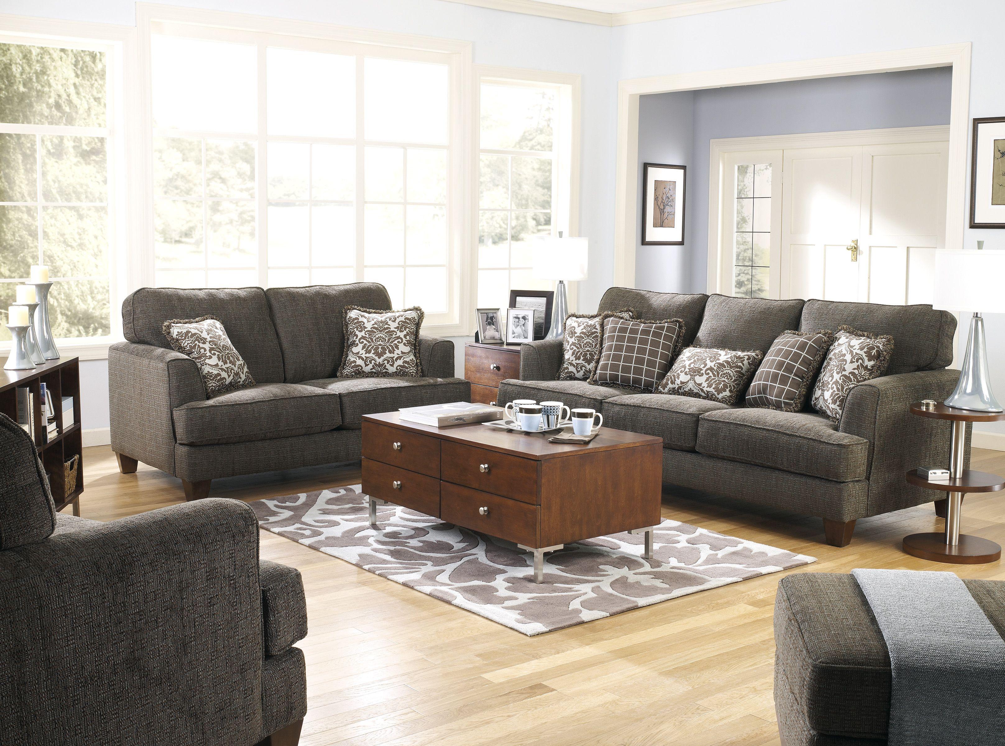 إذا كان لديك أطفال صغار في العمر عليك اختيار أطقم الكنب الداكنة وسهلة التنظيف في آشلي تنوع الأثاث على ذو Living Room Sofa Set Living Room Sofa Furniture