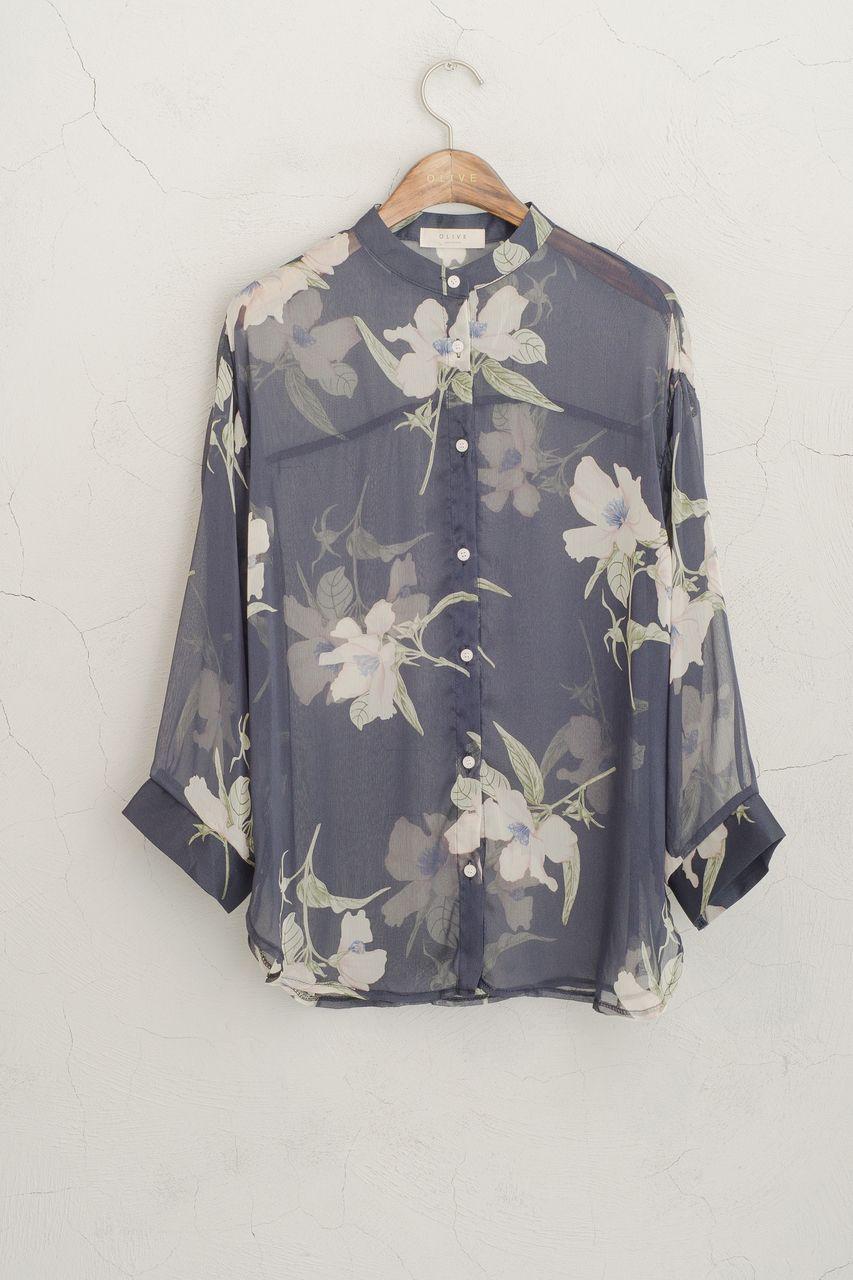 Olive - Sheer Flower Blouse, Navy, £58.00 (http://www.oliveclothing.com/p-oliveunique-20150609-013-navy-sheer-flower-blouse-navy)
