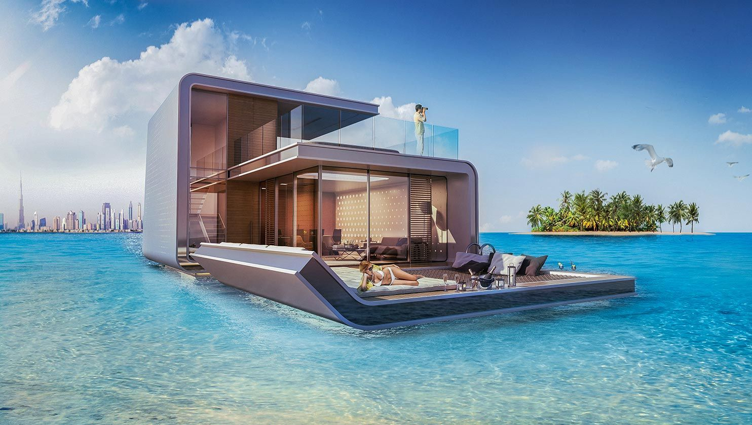 Unique Floating Homes For A Luxurious Lifestyle Seahorses - These amazing floating villas have underwater bedrooms
