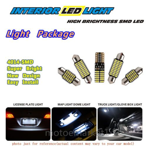 10 Pieces For 2007 2011 Toyota Camry White 4014 Led Interior Light Bulb Package Map Dome Light License Plate Light Ste Dome Lighting License Plate Car Lights
