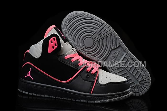 Authentic Cheap Air Jordan 1 Discount Nike Authentic Cheap Air Jordan 1  Flight 2 Black Hyper Pink-Wolf Grey For Sale