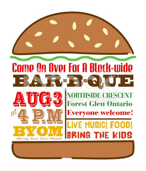 Hamburger BBQ Invitation Template royalty-free stock vector art ...