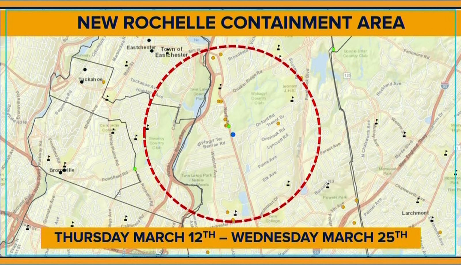 Schools And Facilities Will Close For 2 Weeks In This 1 Mile Containment Area In A New York Cit In 2020 New Rochelle School Closures New Rochelle High School