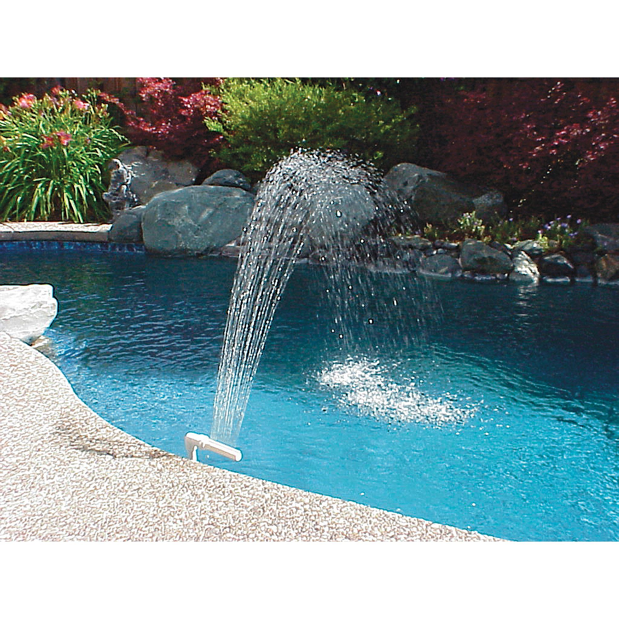 Poolmaster Pool And Spa Waterfall Fountain For In Ground And Above Ground Swimming Pools Walmart Com In 2021 Waterfall Fountain Pool Waterfall Pool Fountain