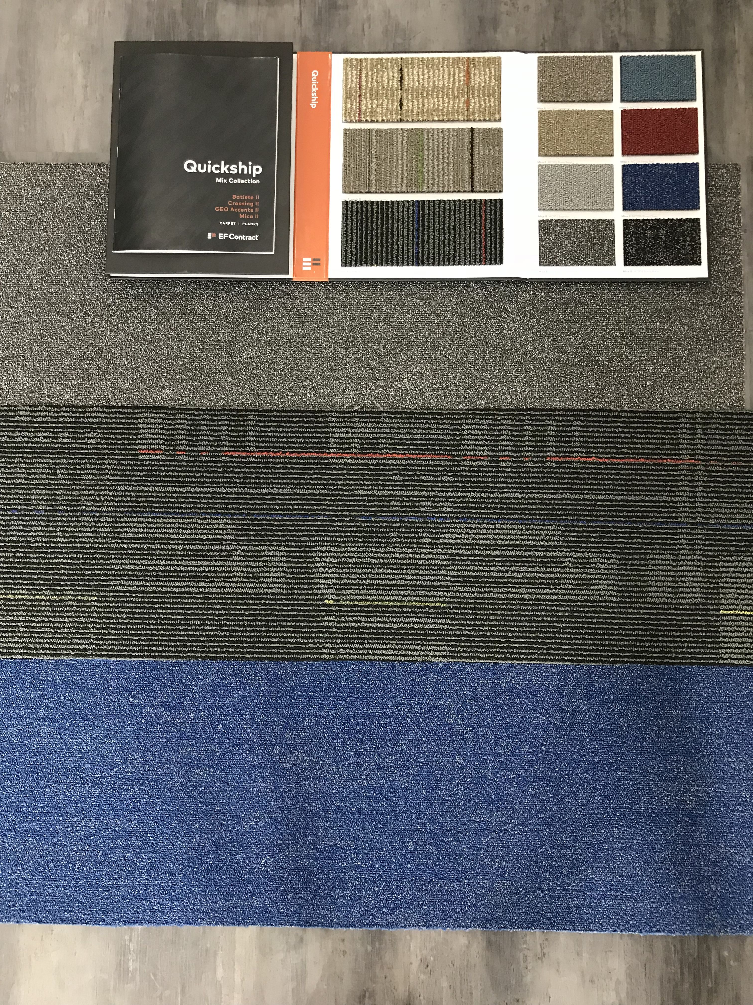 Mix Collection 12 X 48 Quick Ship Carpet Tile By Ef Contract