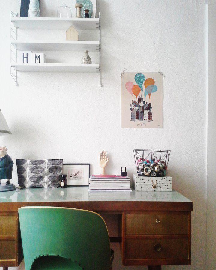 Arbeiten am Schreibtisch SoLebIchde Foto Matilmy #solebich - homeoffice einrichtung ideen interieur