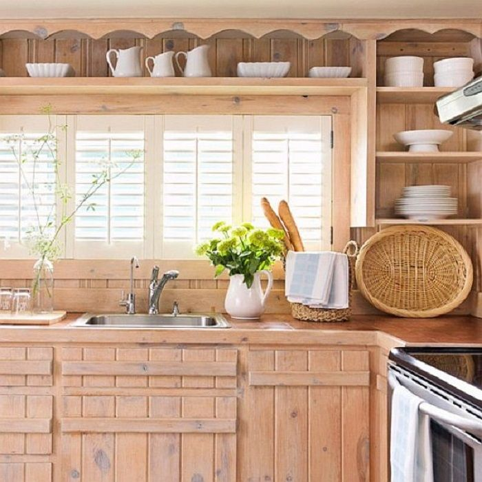 Best Old Styled Reclaimed Wood Kitchen Cabinet For Rustic House 400 x 300
