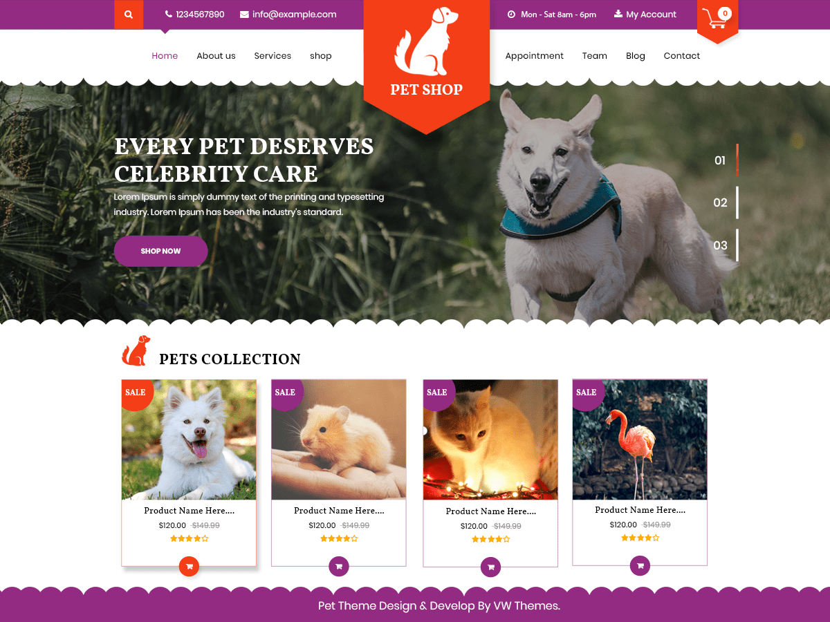 Download Vw Pet Shop 0 3 Free Wordpress Theme Pet Shop Pets Online Pet Store