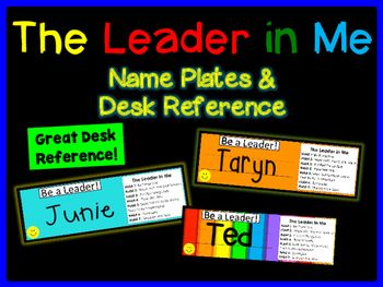 Leader in Me Desk Plates - Name Tags