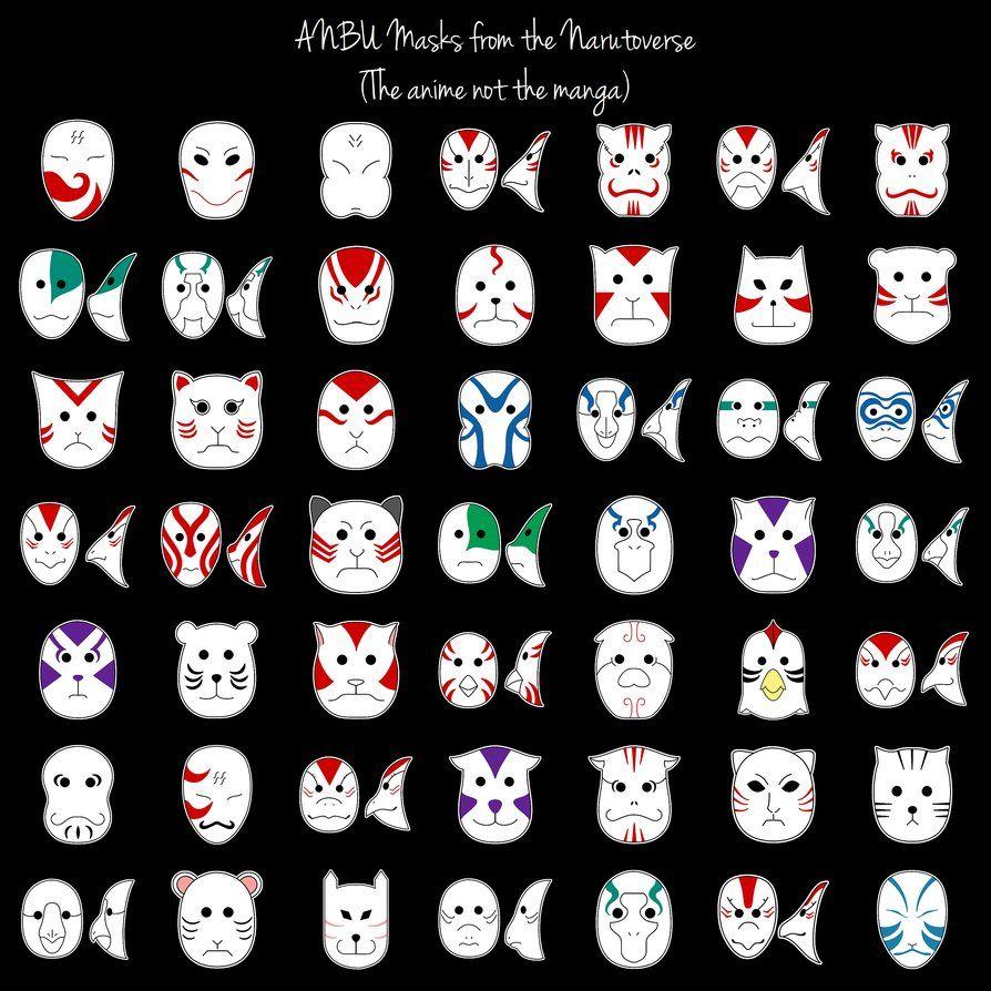 Naruto Anbu Masks Anbu Mask Naruto Art Kitsune Mask
