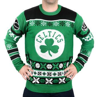 Boston Celtics Kelly Green Thematic Ugly Christmas Sweater Celtics