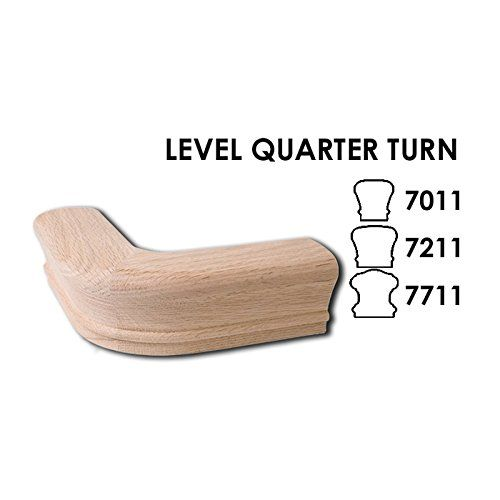 Best Red Oak Level Quarter Turn 6210 Wood Staircase Handrail 400 x 300
