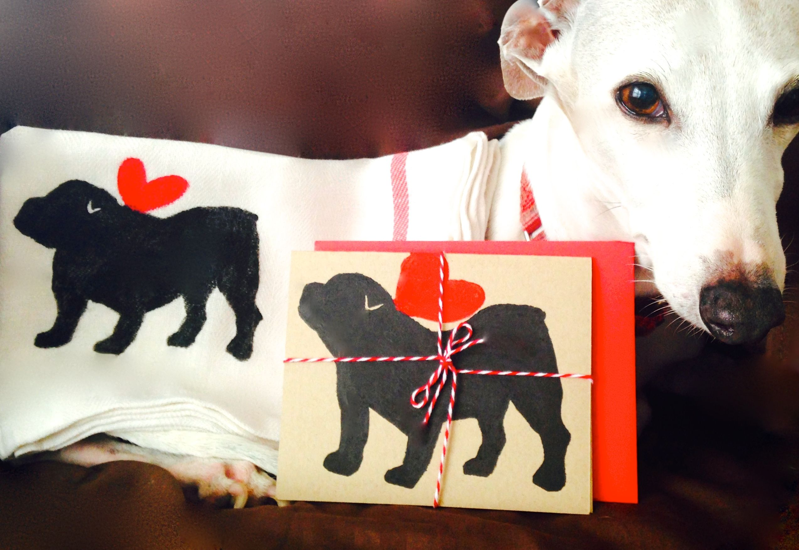 English Bulldog Towel Bull Dog Kitchen Tea Decor ECO Friendly % To ANIMAL  RESCUE Dish Cloth