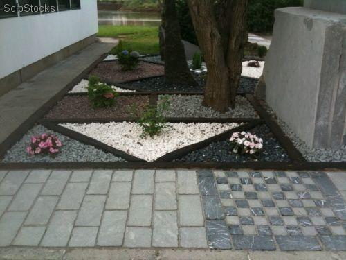 Piedras decorativas de caliza marmol y granito molido - Piedra decorativa jardin ...