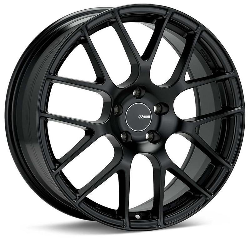 Enkei raijin tuning black wheel 19x8 rim size 42mm