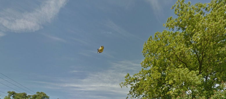 UFO Spotted On Google Earth Map In Sacramento California UFO