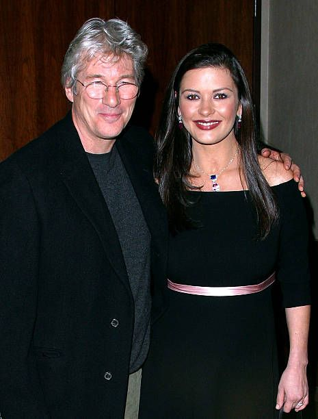 Richard Gere Catherine ZetaJones during Anna Wintour and Harvey Weinstein Cohost Screening of 'Chicago' at Tribeca Grand Hotel in New York City New...
