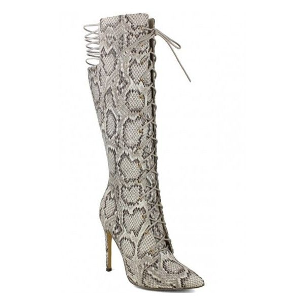 python suede material lace design knee high heel boots ($50) ❤ liked on Polyvore featuring shoes, boots, knee high laced boots, knee high boots, lace up boots, suede knee high boots and knee high heel boots