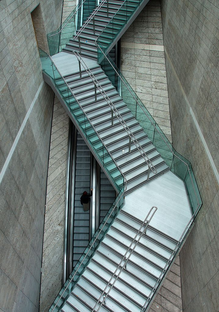 Boring Straight Escalator Or Exciting Zigzag Stairs Stairs Please Architecture Stairs Architecture Stairs Design