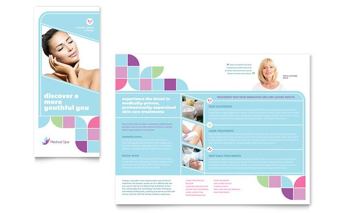 Medical Spa Brochure Design Template By Stocklayouts  Titu