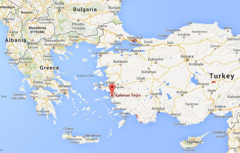 Where is Ephesus Location of Ephesus Turkey Ephesus Pinterest