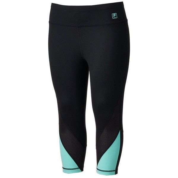 ec367beb3af8a Plus Size FILA Sport® Workout Crop Leggings ( 48) ❤ liked on Polyvore  featuring pants