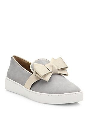Michael Kors Collection Val Suede Bow