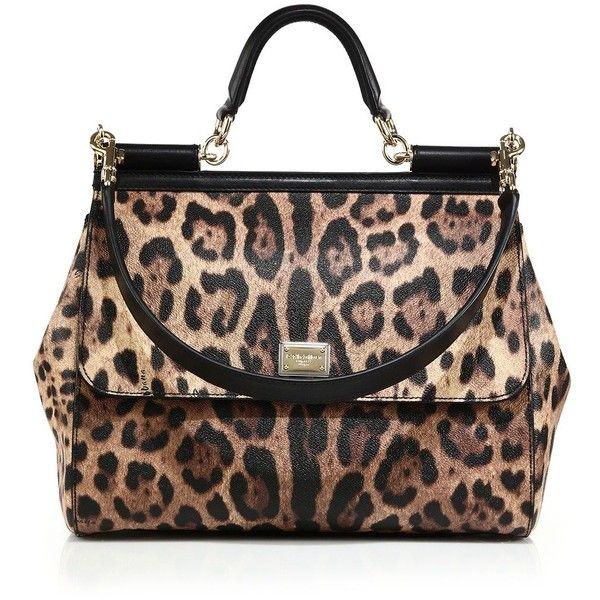 Sac À Mains · Dolce   Gabbana Sicily Large Leopard-Print Textured Leather  Top-Handle. 52174ac825a