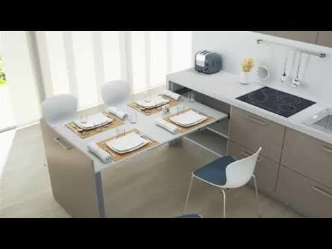 20 Cucine con Tavolo Estraibile a Scomparsa | Cucine | Small kitchen ...