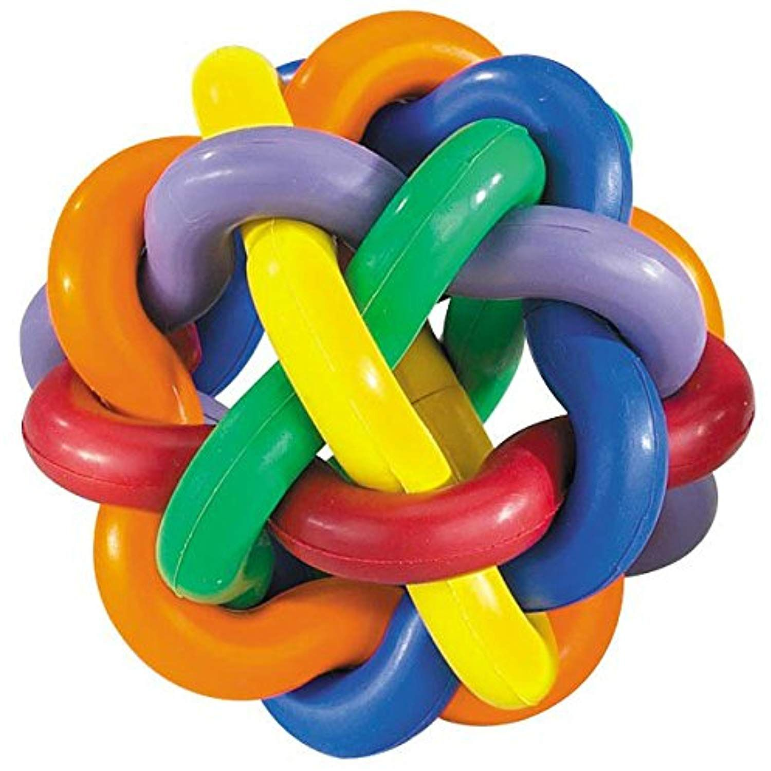 Hard Rubber Dog Toy Knobbly Wobbly Small 3 Inch Tough Chew Toys