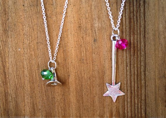 Wizard of Oz Witches Good Wicked Glinda 2 sided necklace