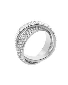 Michael Kors Pave Baguette Eternity Ring Silver Color I Need