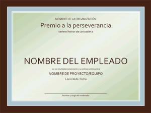 modelo formato ejemplo plantilla diploma certificado de reconocimiento al trabajador ms