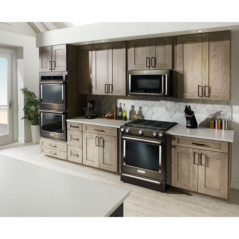 Kitchenaid 30 in 58 cu ft slidein gas range in black