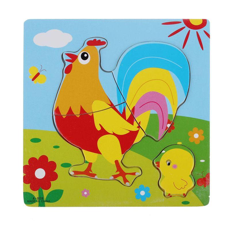 chamsgend moderno tipos de animales de dibujos animados de madera para nios juguetes educativos