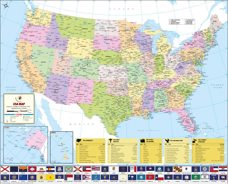 USA-Map-3-Feet-800px | Maps | Pinterest | Wall maps on texas with states, google maps with states, florida with states, us map w states, games with states, north america with states, usa with states, nevada with states, nebraska with states, united states map states,