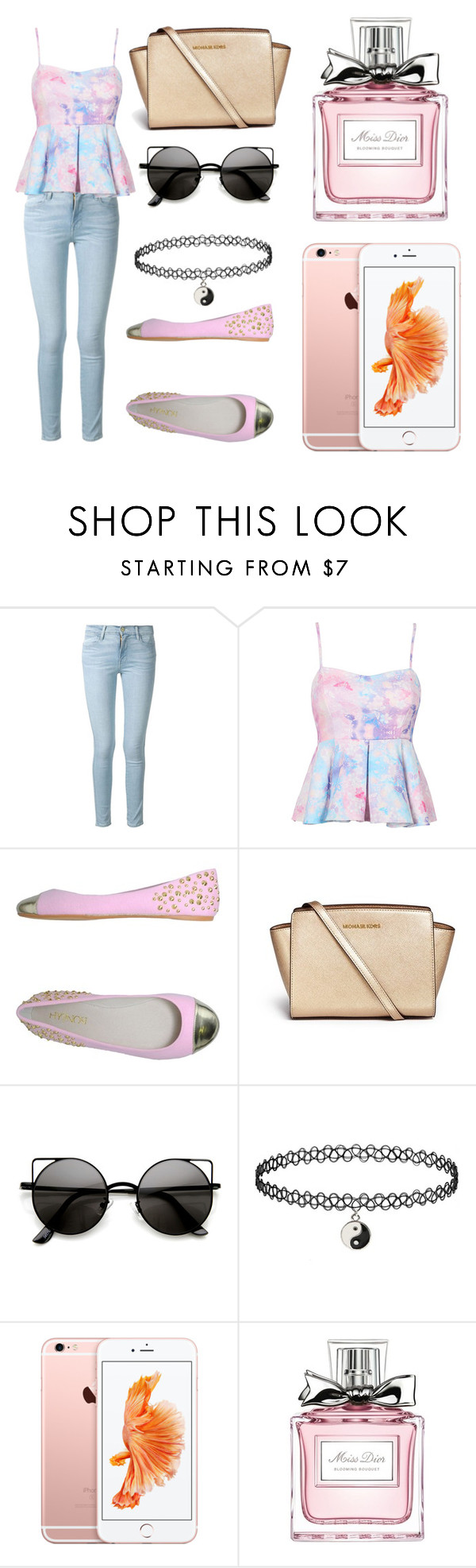 """Без названия #2"" by kuklo-nasty ❤ liked on Polyvore featuring Frame Denim, Hypnosi, Michael Kors, Christian Dior, women's clothing, women's fashion, women, female, woman and misses"
