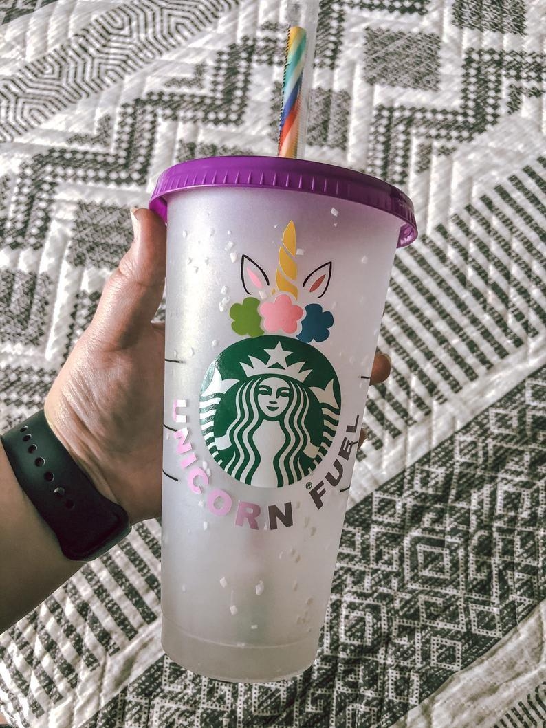 Unicorn Starbucks Reusable Venti Cup Unicorn Personalized