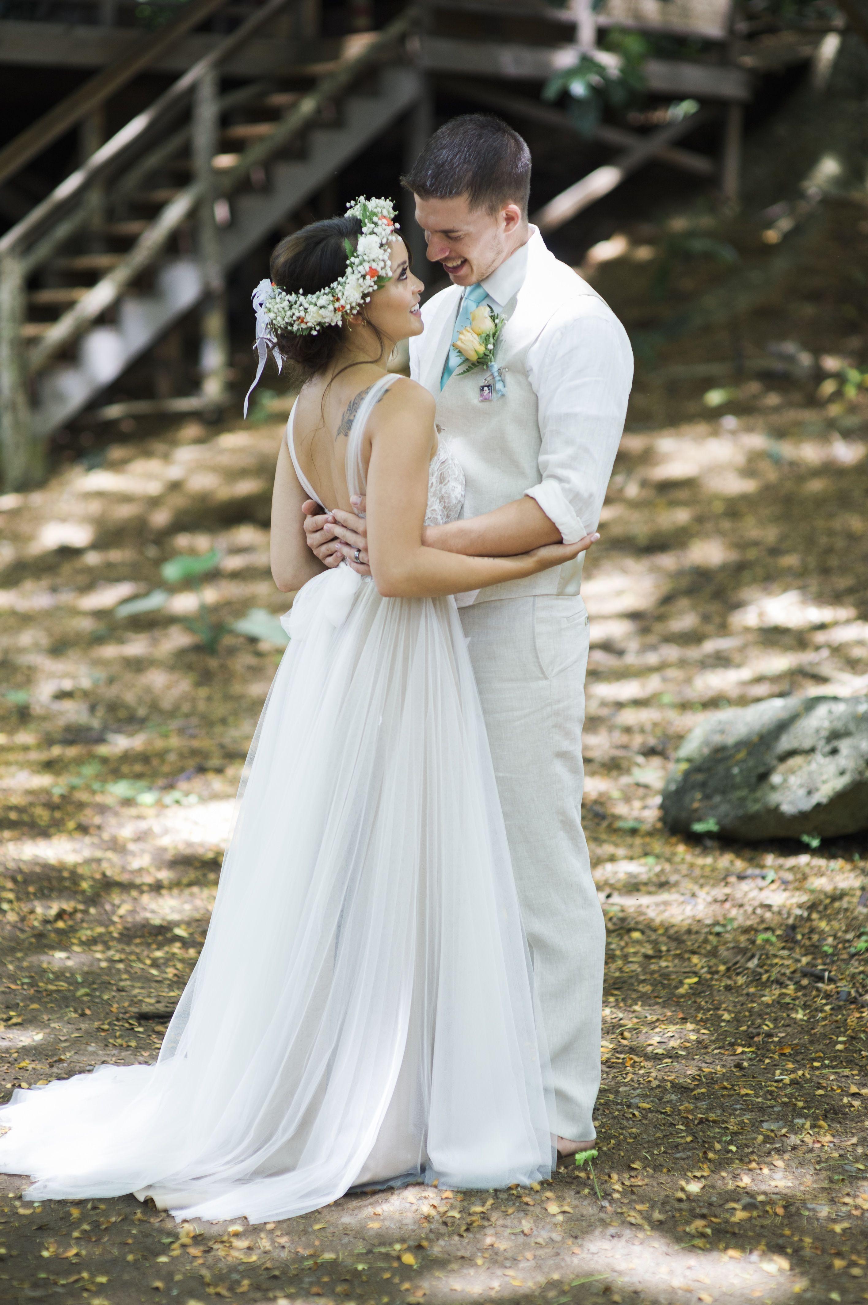 A Boho-Chic, Rustic Wedding at Kualoa Ranch in Kaneohe, Hawaii