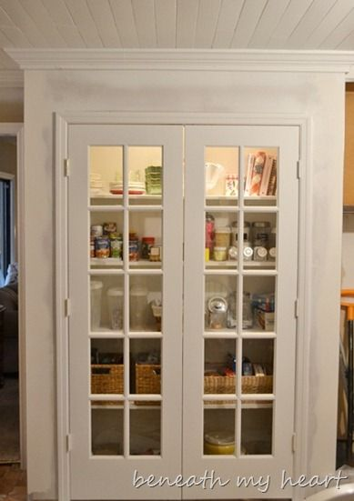 I Love My New Pantry Painting Made Easy With Wagner Power Painter Old French Doors Glass Pantry Door Closet Remodel