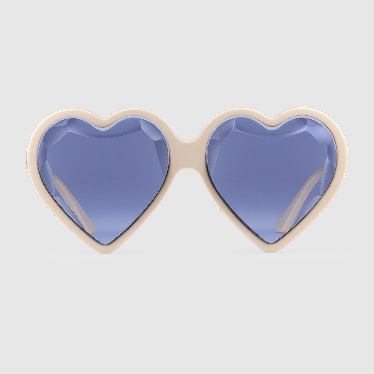6b38fa21ab1 Gucci Heart-frame acetate sunglasses